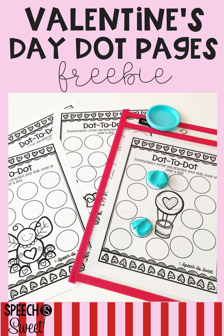 Free Valentine's Day dot pages! These open-ended sheets can be used for articulation, language, fluency, apraxia, and more! Dot pages make speech therapy fun and engaging! They can be used with bingo daubers or placed in a dry erase sleeves to create a play dough smash mats! #valentinesday
