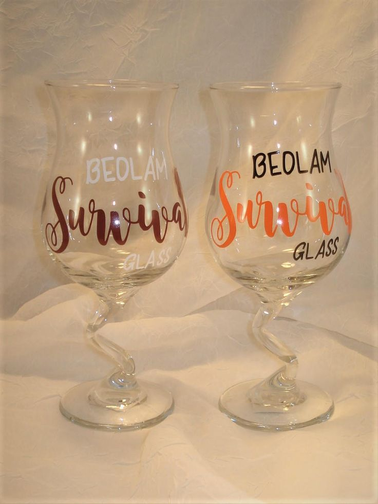 Oklahoma Football Gift, Bedlam Survival Glass, Oklahoma State Bedlam Football Game Survival Glass, OSU OU Survival Crooked Stem Glass