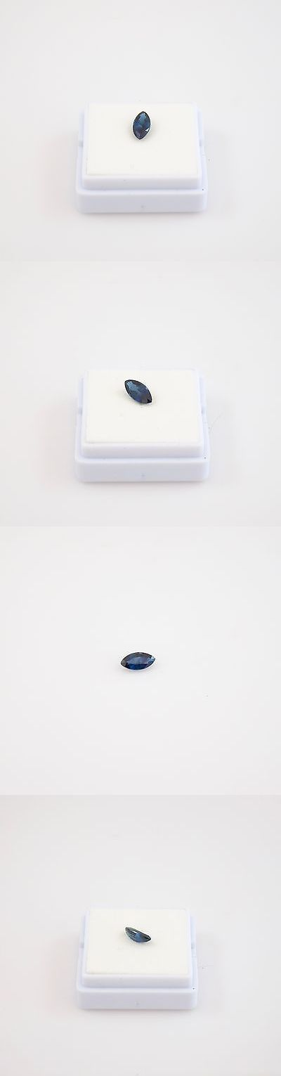 Natural Sapphires 4644: Marquise Blue Sapphire (8X4mm) Blue Sapphire Loose Gemstone -> BUY IT NOW ONLY: $40 on eBay!