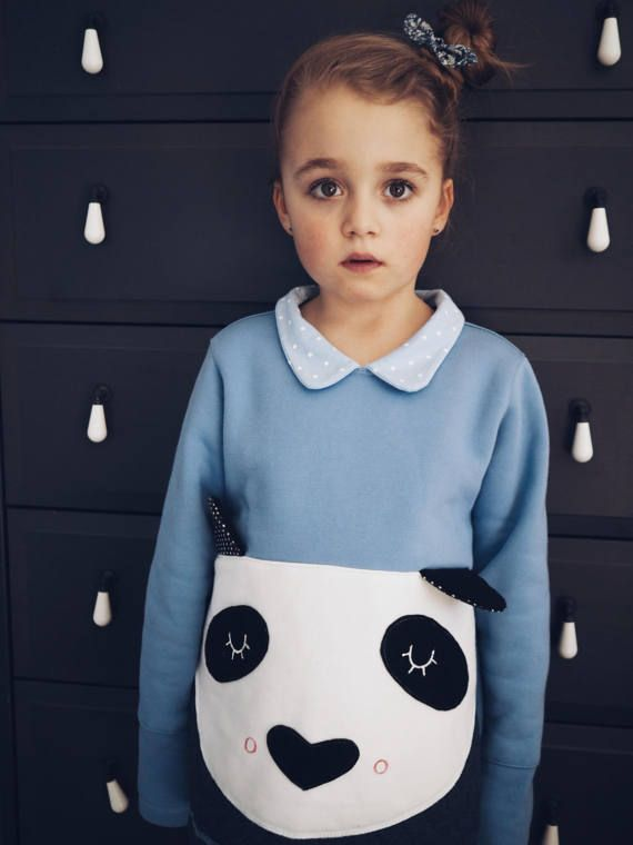 #Panda t-shirt, #for kids, #blue, #animal sweetshirt, #t-shirt, #panda, #blue, #dots, #jumper #ladystump DESIGN BY LADYSTUMP Shop: www.ladystump.com
