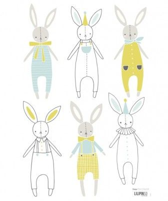 Lilipinso Samolepka Rabbit Boys