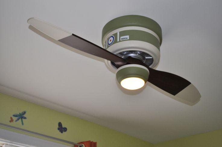 Vintage Airplane Bomber Kid 39 S Ceiling Fan Fans