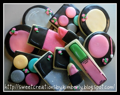 Makeup Sugar Cookies...these would be fab for a teen birthday