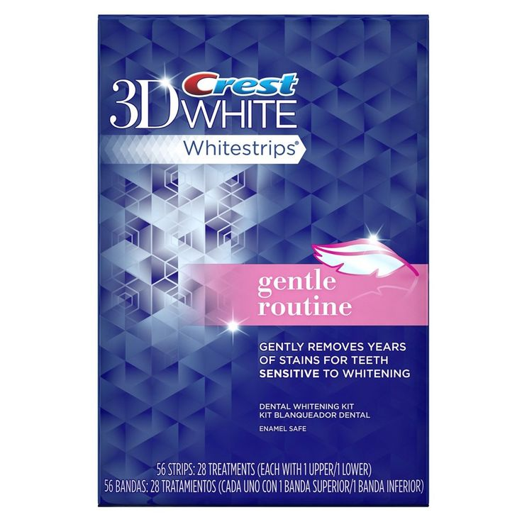 Отбеливающие полоски Crest Whitestrips 3D White Gentle Routine
