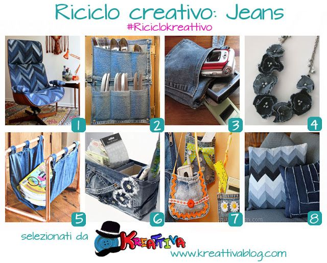 Kreattivablog: 19 idee e tutorial per un riciclo creativo dei jea...