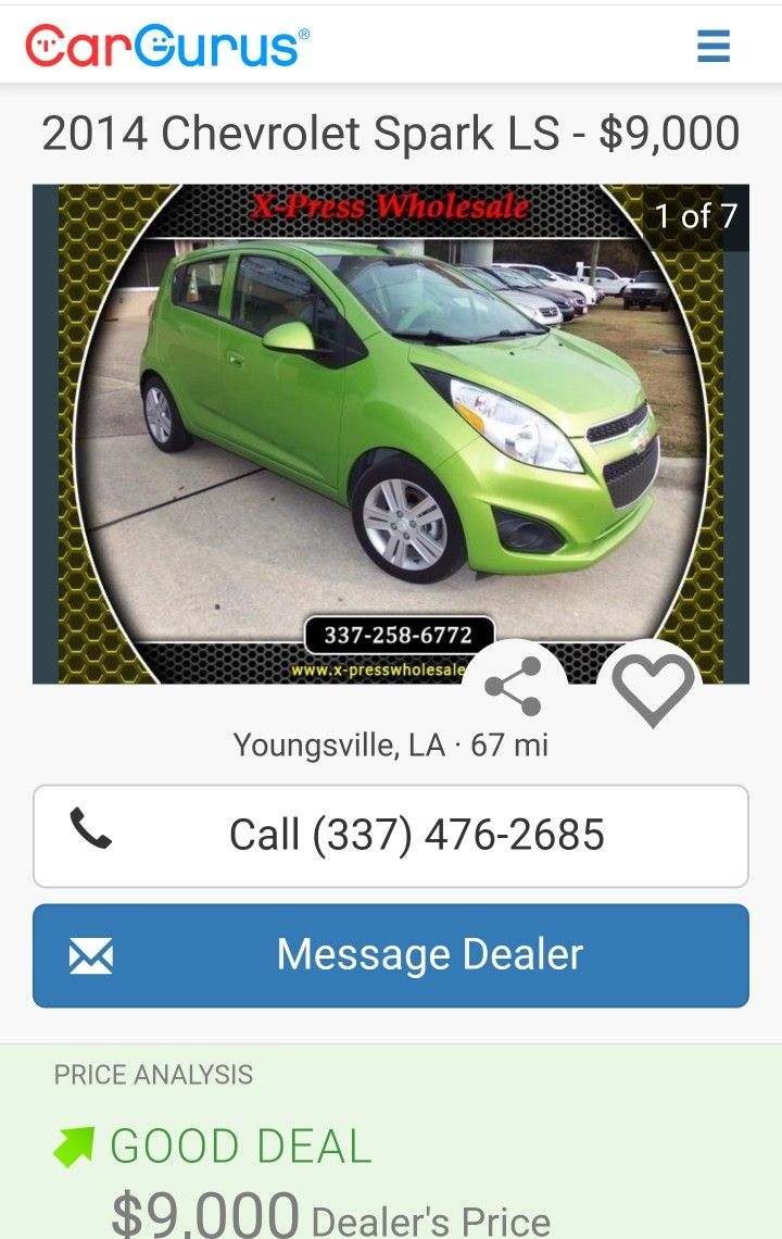 8/16/2017 ... 2014 Automatic Chevrolet Spark LS - $9,000 30 MPG City,  39 MPG Highway
