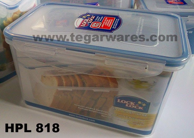 HPL 818: Size 205 x 134 x 118mm capacity 1,9L High size, airtight with four latches on each side, is ideal used as a place to store your fresh bread