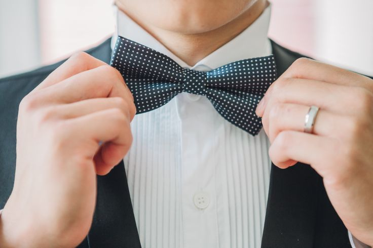 Nothing says more gentleman than a simple bow tie.  Vancouver, BC, Canada Photography by Love Frankly Wedding photography