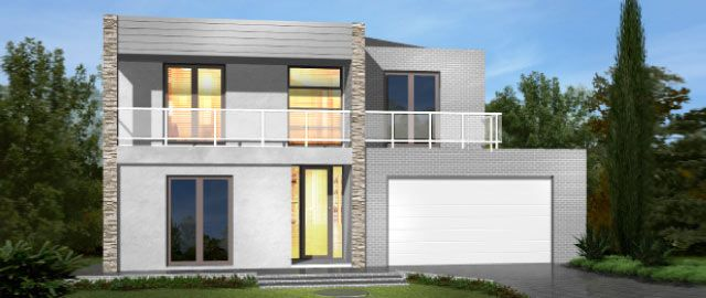 The Taranto Facade Option 02 - from the Weeks Peacock Homes Urban Style Range. The commanding facade of the Taranto will invite you inside to experience the ultimate showcase of modern day living.