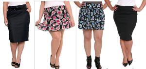Faldas para mujeres de talla grande, encuentra más tips de moda para tu tipo de cuerpo en http://www.1001consejos.com/moda-para-mujeres-de-talla-grande/