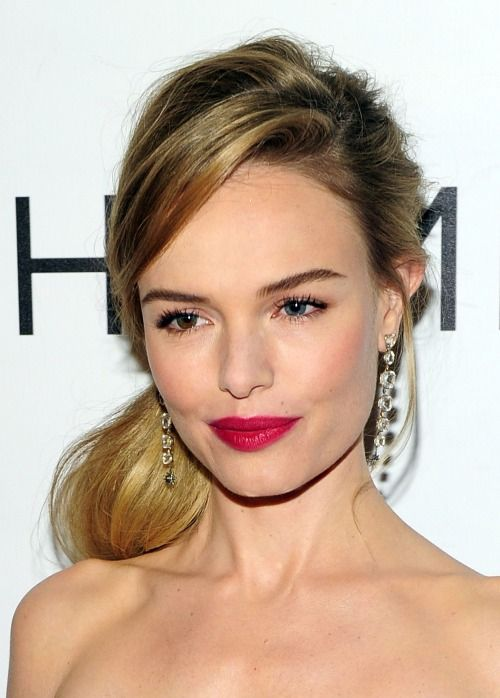 perfect pop of pink — #magenta #lips #katebosworth