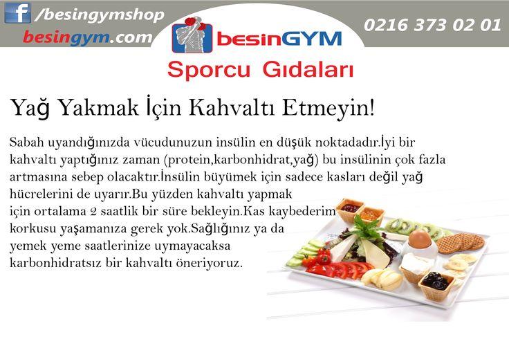 Yağ Yakmak İçin Kahvaltı Etmeyin  www.besingym.com