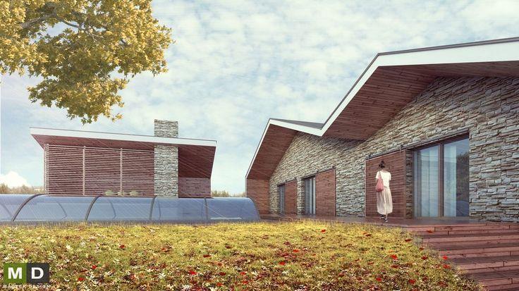Přístavba rodinného domu se sedlovou střechou Statenice