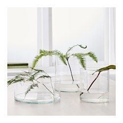 IKEA - CYLINDER, Vase/bowl, set of 3,  , , Can be stacked inside one another to save room when storing.
