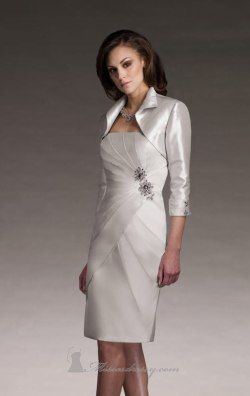 Shantung Gathered Dress by Mon Cheri Social Occasions 210881