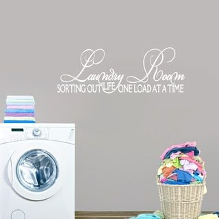 laundry room sorting out life wall decal 45 x 12