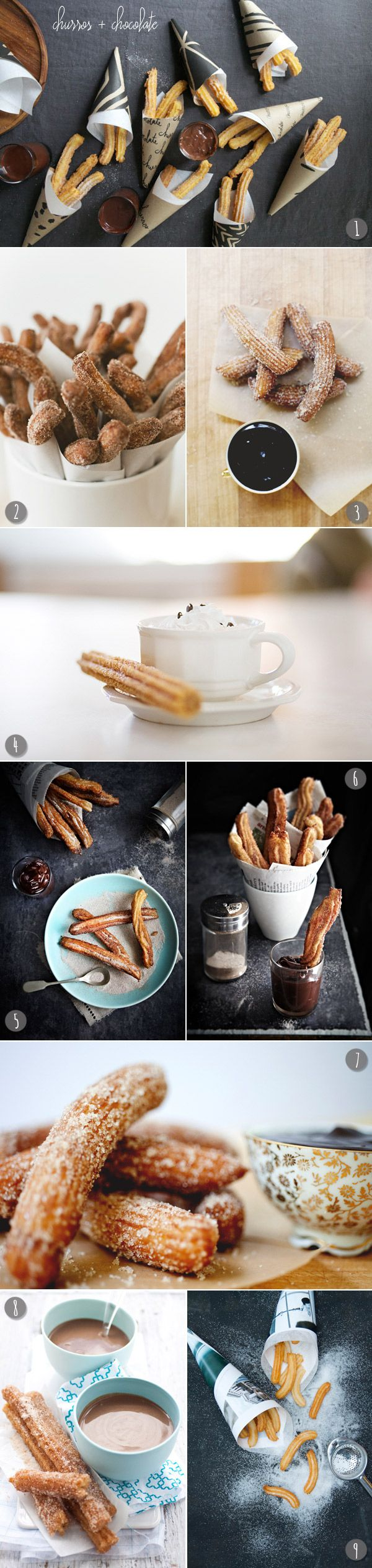 Churros + chocolate   The Sweetest Occasion