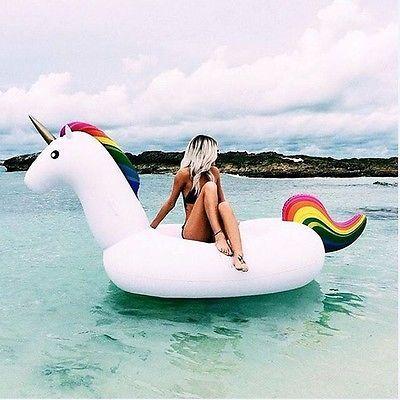 Einhorn Schwimmtier Schwimminsel Luftmatratze unicorn XXL