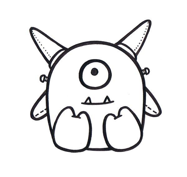 15 best monsterrrrrrrrz images on pinterest doodle for Doodle art monster