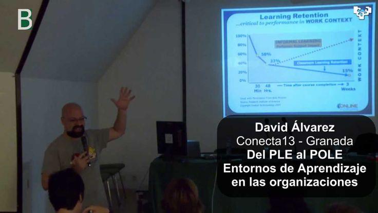 David Alvarez @Balhisay en el curso #H8ikanos explica como pasar del #PLE al #POLE al Entorno de Aprendizaje Profesional en una organización educativa. @UPVe...