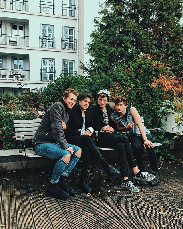 The Vamps in @ Dean Sherwood. They all look so cute!