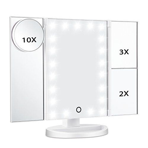Photo Gallery For Photographers Led Lighted Makeup Mirror Magicfly X X X X Magnifying Mirror LED Tri Fold Vanity Mirror with Touch Screen and Adjustable Stand