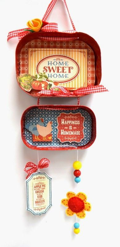 recycled, decor, DIY , sardine tin