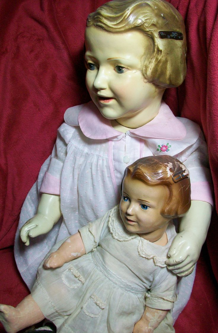 Molded hair Raleigh dolls with molded barrettes in hair-rare dolls