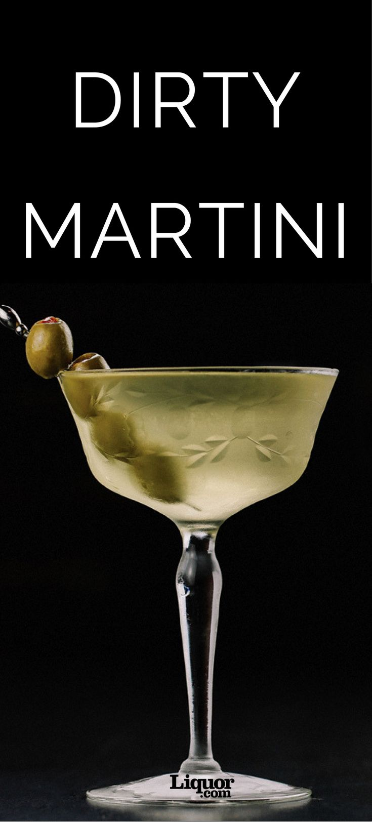 The Dirty #Martini is a Classic #Cocktail You Should Absolutely Learn How to Make. A dash of olive brine brings a salty, savory note to the all-time classic.