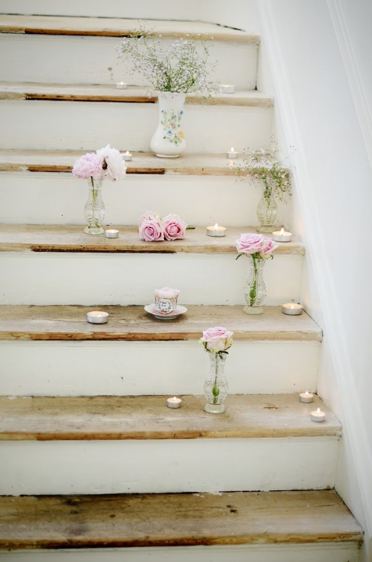 tea lights & rose idea