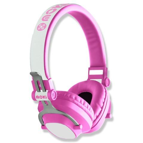 Moki EXO Kids Bluetooth Headphones - Pink - School Depot NZ