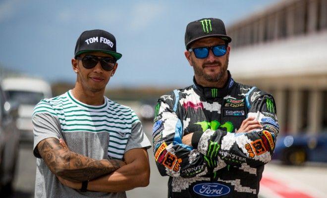 Lewis Hamilton vs. Ken Block. When racing legends combine...