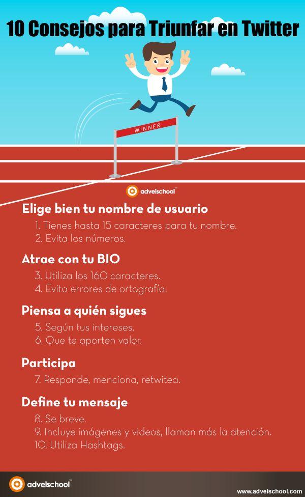 10 consejos para triunfar en Twitter #infografia