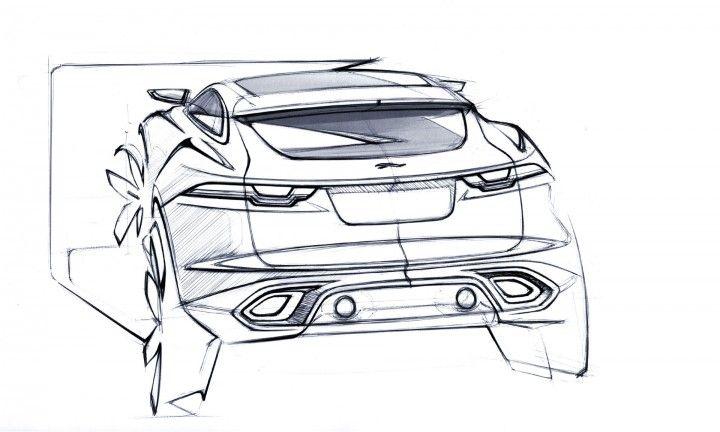 Jaguar C-X17 Concept design Sketch.