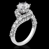 Perfectly Designed Twist and Loop Setting with Endless Diamonds and 6 Secure Prongs$2550 #UniqueRingSettings