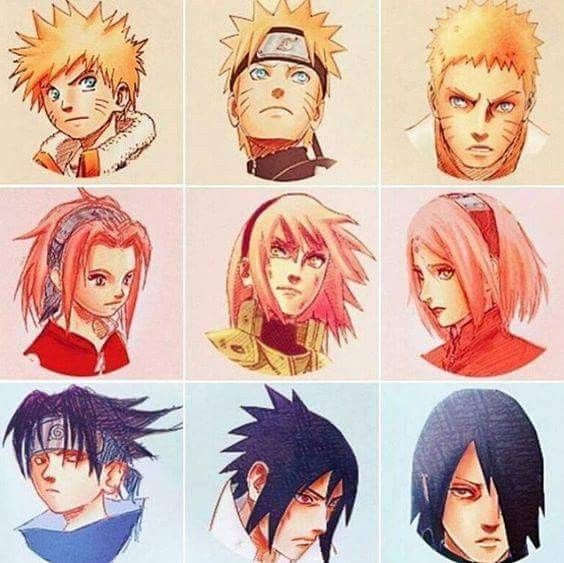 Team 7 Manga Drawing Evolution ❤️ Kishimoto did a great job ❤️ love it ❤️❤️❤️