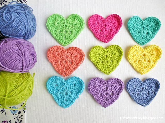 FIFIA CROCHETA blog de crochê : coração de crochê passo passo