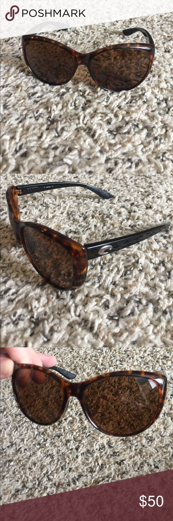 Genuine Costa Del Mar sunglasses Super cute tortoise shell La Mar Costa sunglasses. In near perfect condition. Tiny, minor scratches on lenses, but nothing major. Great pair of sunglasses, just don't wear them much! Costa Del Mar Accessories Sunglasses