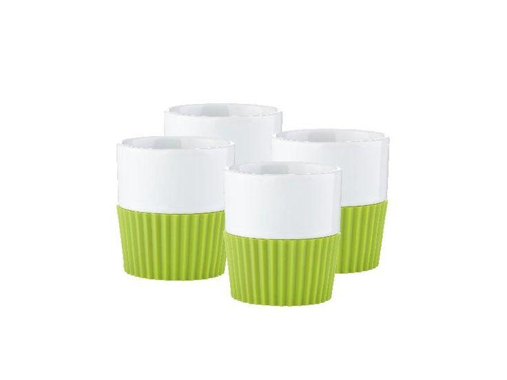 Zone - hrnek na espresso Confetti limetkový - set 4 ks