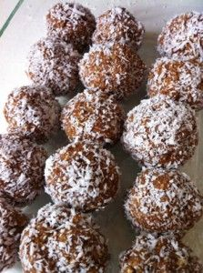nut free bliss balls