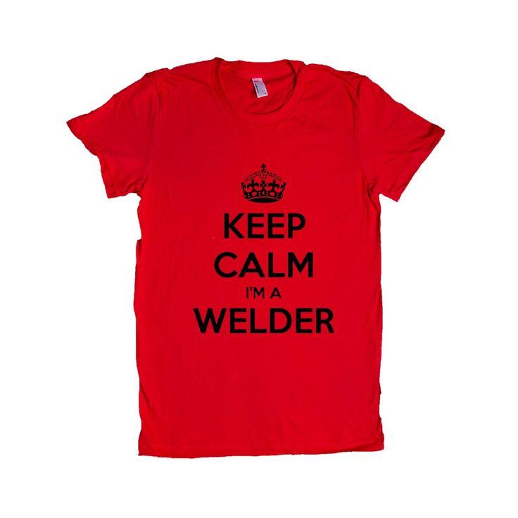 Keep Calm I'm A Welder Welding Tools Danger Job Jobs Career Careers Profession SGAL2 Women's Shirt