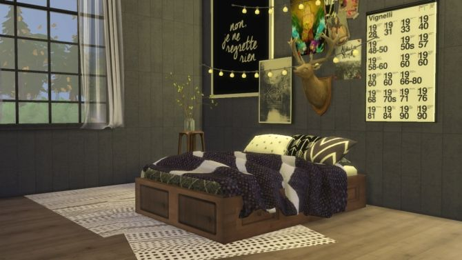 Basic Wooden Double Bed Frame at Ooh-la-la • Sims 4 Updates