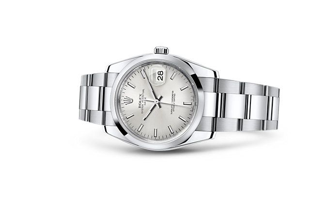 Discover the Date 34 watch in 904L steel on the Official Rolex Website. Model: 115200