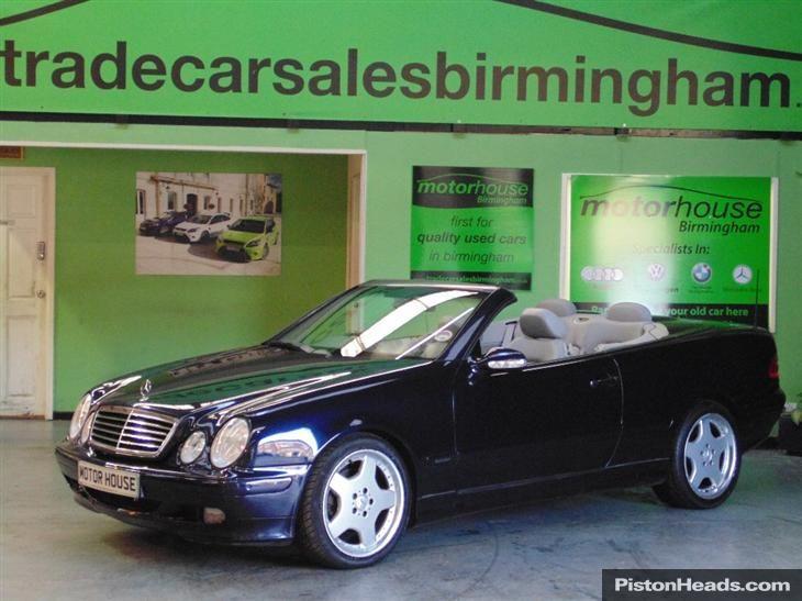 For Kim: Used 2001 Mercedes CLK 320 Avantgarde for under £2500