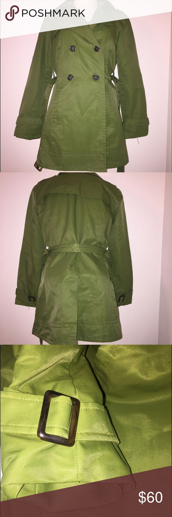 Zara Military Green Trench Coat Zara Military Green Trench Coat. The flash makes the color look a lot different, it's close to army green... this is basically new I'm a XS or S, this was always too big. Make an offer Zara Jackets & Coats Trench Coats