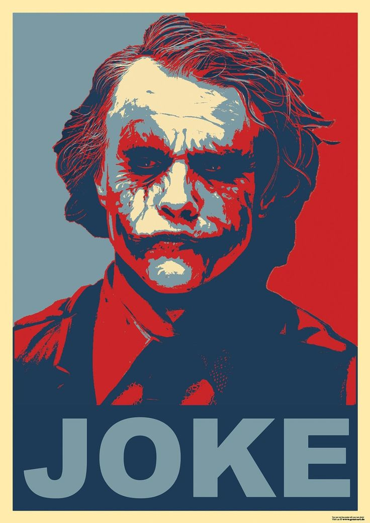 Joker Poster JOKE - red blue Poster - Joker Batman the
