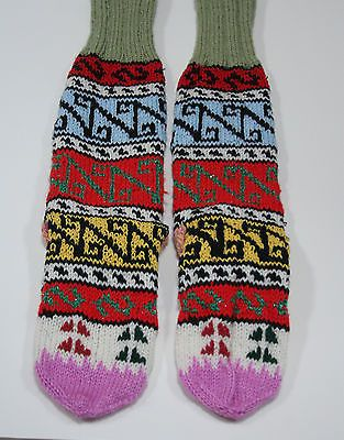 TRADITIONAL FUNKY HAND MADE KNITTED TURKISH SKI BED SOCKS XMAS GIFT STOCKINGS