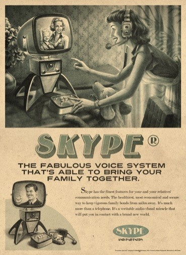 New/Retro Skype Poster Pinned by Ignite Design & Advertising, Inc. www.clickandcombust.com