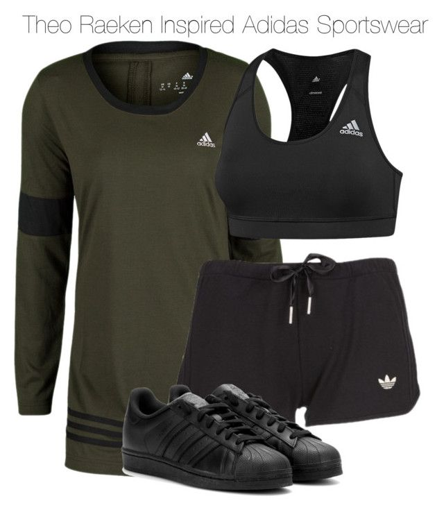"""Theo Raeken Inspired Adidas Sportswear"" by staystronng ❤ liked on Polyvore featuring adidas, women's clothing, women, female, woman, misses, juniors, sportswear, tw and gym"
