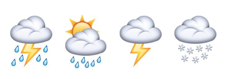 Pin for Later: The Emoji of Your Dreams Are Finally Here  — F*ck Yes! New cloud emoji for all your weather-related needs